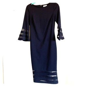 Calvin Klein Navy Blue Formal Dress